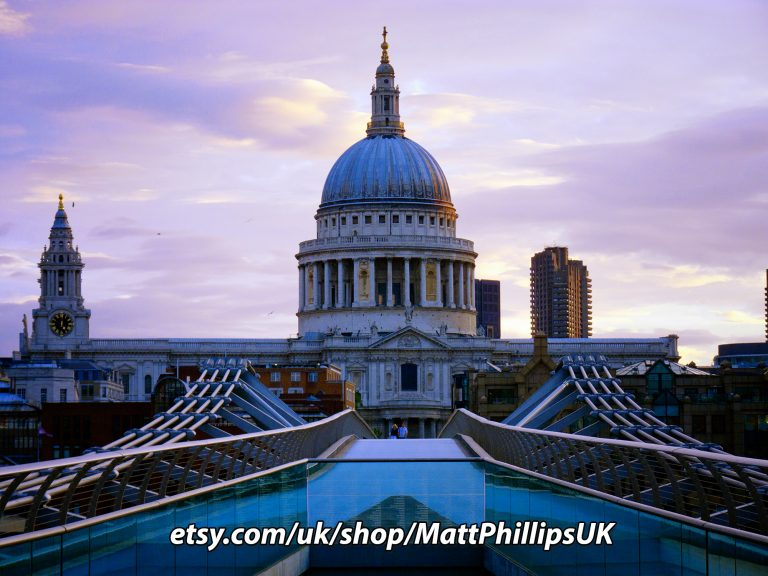 St Pauls over the Millennium Bridge